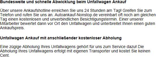 unfallwagen verkaufen krefeld